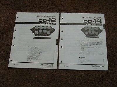 Yamaha Digital Percussion DD-12 DD-14 Service Manual Schematics Drum Machine for sale  Shipping to India