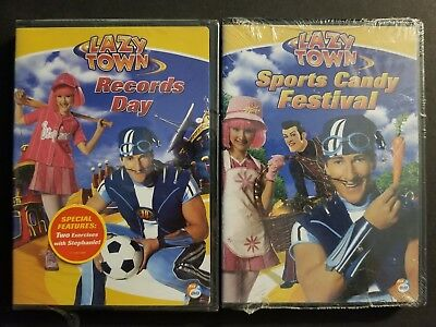 Lazy Town - Records Day & Sports Candy Festival (DVD, 2006) Nick Jr. SEALED OOP](Lazytown Nick Jr)
