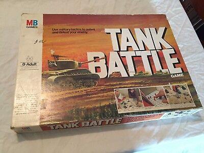 VINTAGE 1975 Milton Bradley TANK BATTLE Original Strategy Board Game