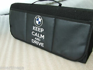 bmw keep calm and drive bmw car boot tidy organiser ebay. Black Bedroom Furniture Sets. Home Design Ideas
