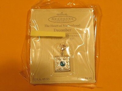 NEW Hallmark Keepsake silver plated DECEMBER Charm Pendent w ********* Crystal