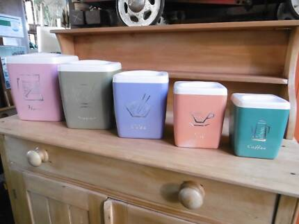 Retro Vintage Halequin NALLY Brand Canister Set Thirroul Wollongong Area Preview