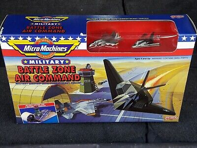 NIB MICRO MACHINES MILITARY BATTLE ZONE AIR COMMAND PLAYSET SET 7002 GALOOB