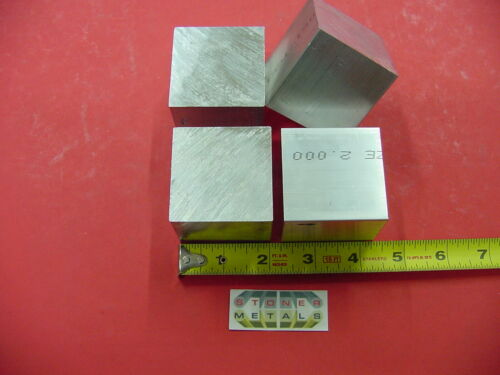 "4 Pieces 2"" X 2"" X 2"" ALUMINUM SQUARE 6061 FLAT BAR SOLID T6511 New Mill Stock"