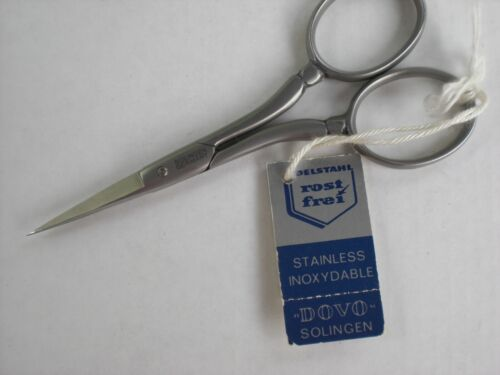 """Dovo 4"""" Matte Stainless Embroidery Scissors Solingen Germany  new with tag"""