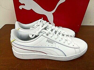 Puma Women's Vikky V2 Athletic Sneaker Shoes SIZE 7, 7.5, 8, 9 WHITE - 0M_19