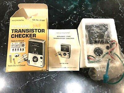 Vintage Micronta Dynamic Transistor Checker Radio Shack 22-025 Box Instructions