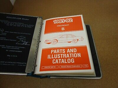 1991 1992 Chevrolet Caprice illustrated parts catalog manual book with GM binder
