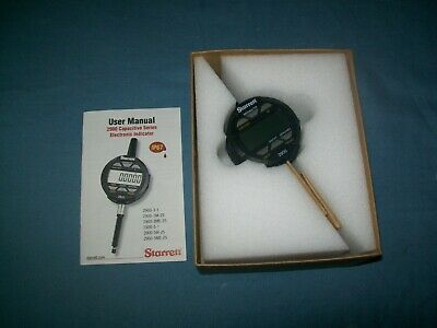 New Starrett Advanced Digital Metric Indicator 0-25mm 0.01mm Lug Back