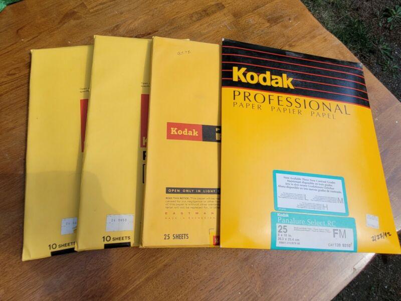 Reduced Lot of 4 Kodak 8x10 Paper Sealed Panalure Select RC. Ektacolor See Pics