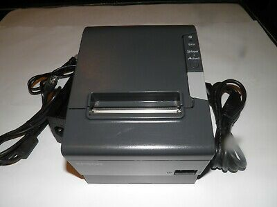 Epson Network Thermal Pos Receipt Printer Tm-t88v M244a W Ethernet Ac Adapter
