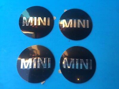 4 X Genuine Wheel Center Cap Emblem Mini COOPER OEM# 36136758687 Stick-on DIY