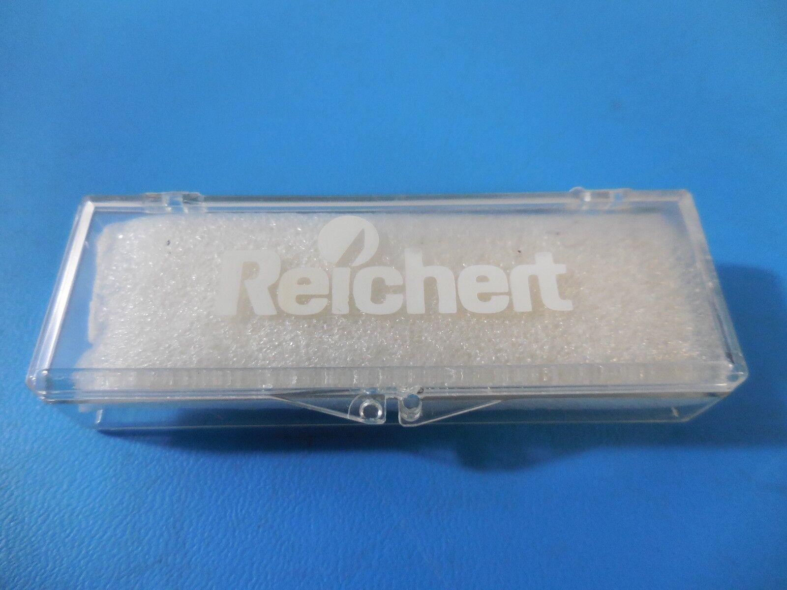 Reichert Cat:1400 Refractometer Objective Micrometer Glass Slide