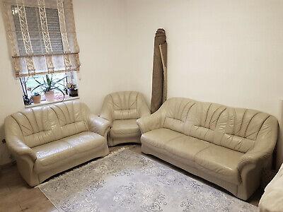 3 2 1 Ledergarnitur Echt Leder Deutsche Markenware Couch Federkern Ledersofa
