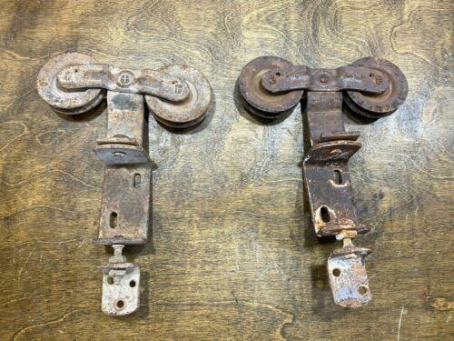 Vintage  Dual Roller Sliding Barn Door Hanging Hardware ~ Antique Farm Primitive