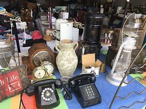 GARAGE SALE -ANTIQUES- COLLECTIBLES -FURNITURE