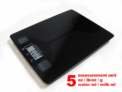 Skallo 11 Lbs 5 Kg Digital Glass Postal Kitchen Food Weight Diet Mailing Scale