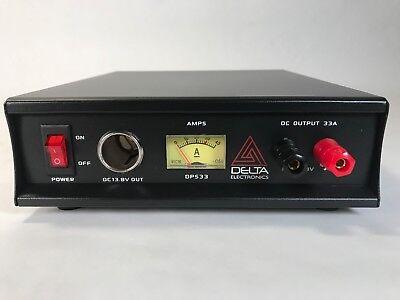 DELTA DPS33 33 Amp 12-13.8v AC/DC Power Supply w/ Volt AMP M