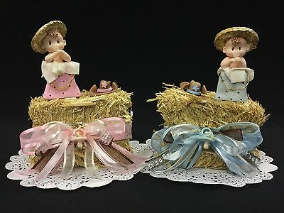 Western/Country Baby Shower Cake Topper, Cowboy/Cowgirl, Table - Western Baby Shower