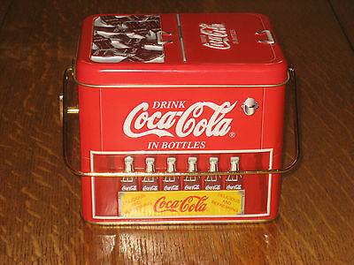 COCA COLA TIN METAL CONTAINER WITH MUSIC BOX