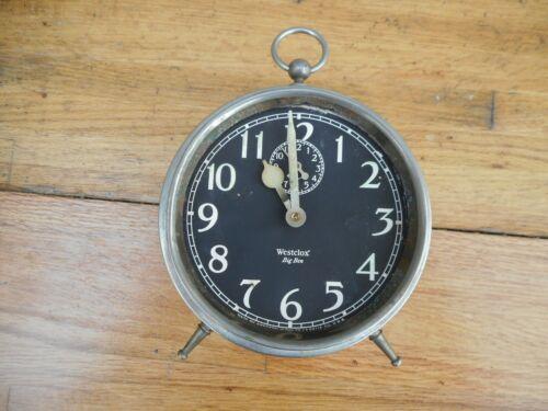 Antique Westclox USA Big Ben Alarm Clock Runs Black Dial Face For Repair