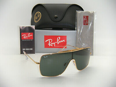 New Authentic Ray-Ban Wings II RB 3697 9050/71 35mm Gold / Dark (Rayban Italy)