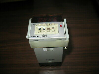 Omron H5cn-xan On Delay Timer Module With Mounting Bracket And Base 100-240vac
