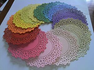 Gorgeous doilies 10 Decorative circles 13 cm.Dia.  XCut Die is cut from GQ Card