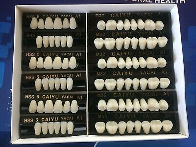3 Complete Sets Acrylic Denture Teeth A1 Size Larger In One Box