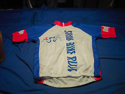 Hy Vee  Short Sleeve Cyclist  Jersey Size Large  Full Zipper