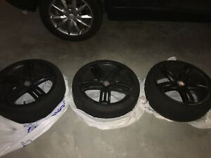 Black 17 Inch Mercedes allot Rims + Low Profile tires