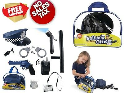Police Custom Dress Up Toys Role Play Set for Swat Detective FBI Halloween