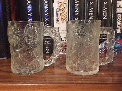 1995 Batman Forever McDonalds Glass Mug, 4 Cups Complete Set + 2 Extra Riddler