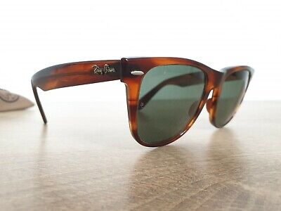 Vintage B&L RAY-BAN WAYFARER II L1725 XPAS Tortoise Brown Sunglasses Made in (Ray Ban Made In Usa)