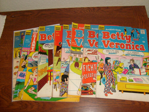 49 ARCHIE SILVER & EARLY BRONZE AGE COMICS, LOTS OF BETTY & VERONICA, JOSIE