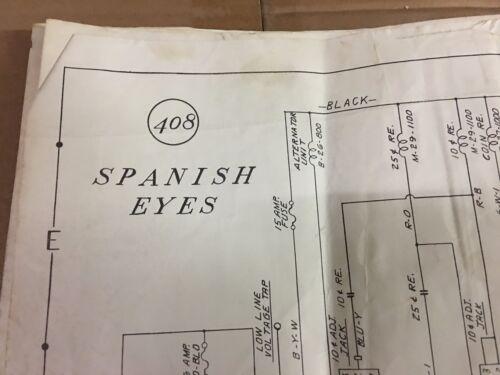 Spanish Eyes Electromechanical Pinball Manual Fold-Out Schematic