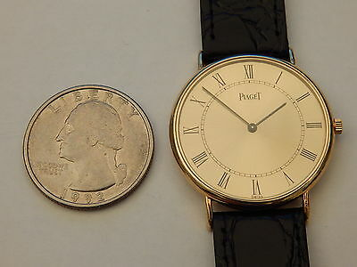 GENUINE PIAGET SOLID 18K YELLOW GOLD RONDE 30MM MEN'S DRESS WATCH