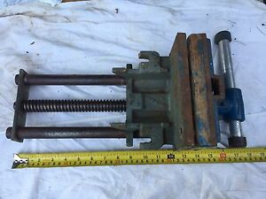 "Old Wilton Under Bench Wood Vise Clamp Tool 7"" Jaw Woodworking"