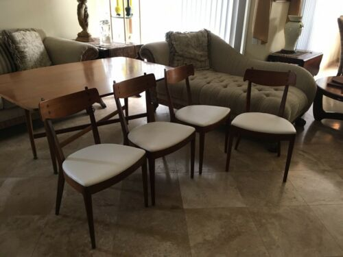 MID-CENTURY DREXEL DECLARATION KIP STEWART SOFA/DINING TABLE SET WITH 4 CHAIRS