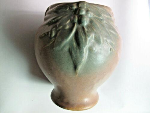Vintage McCoy Leaves & Berries Planter Matte Green & Brown - 7 inch tall