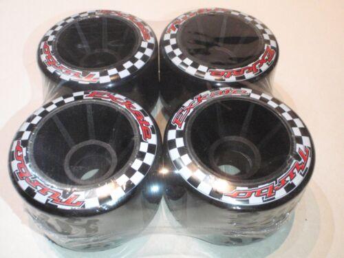 EXKATE 76 mm BLACK TURBO 78A longboard wheels pack of 4 NIP