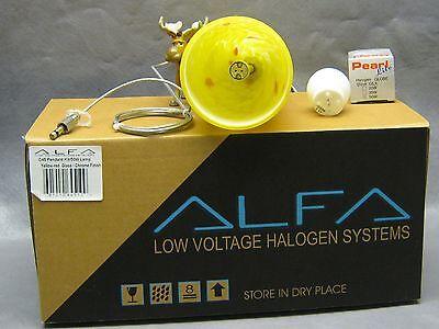 Alfa Lighting G45 Quick Jack Pendant Kit w/50W Bulb Yellow-Red Glass 9 3/4