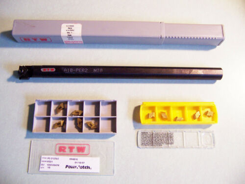 """New - 5/8"""" (.625) Top Notch Threading & Grooving Bar (Right Hand) & 10 Insert"""