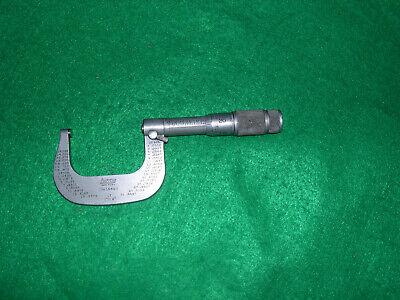 Lufkin 1662v 1-2 Micrometer .0001 Carbide Tips