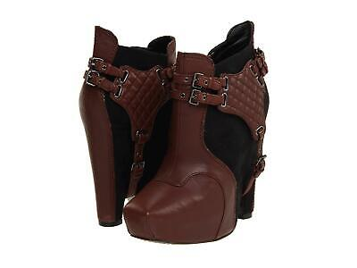 SAM EDELMAN WOMANS ZOE BOOTS WEDGE LEATHER ANKLE HARNESS SIZ