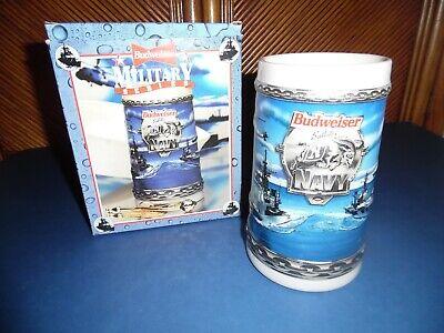 Budweiser Navy Stein In Original Box