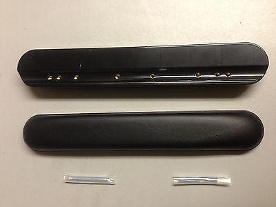 WheelChair Vinyl Armrest Padded Black 10 inch Length pair of 2 Better