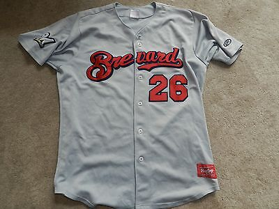 98800104e6f 2014 Brevard County Manatees Game Used Road Jersey  26 Kevin Shackelford  Brewers