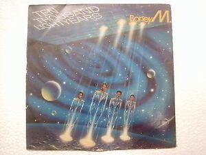 BONEY-M-TEN-THOUSAND-LIGHT-YEARS-RARE-LP-record-vinyl-INDIA-INDIAN-VG
