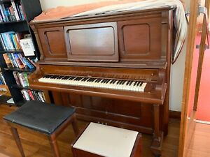 Antique VICTOR upright piano Elvis V Easy Pick Up No Stairs close car